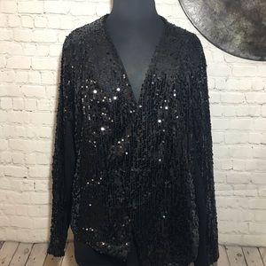 Torrid black sequin cardigan size4 from torrid NWT